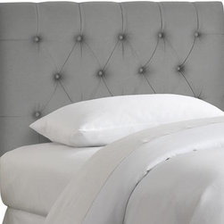 Home Decorators Collection - Custom Ford Upholstered Headboard - Handcrafted diamond tufts set our Custom Ford Upholstered Headboard apart. You choose the fabric to finish the elegant look. The plush foam padding of this kids bed headboard offers exceptional comfort. Solid pine frame with metal legs and polyester fill. Hand tufted. Easily attaches to any standard bed frame with included hardware. Spot clean only. Hand assembled in the USA and delivered in 2-4 weeks.