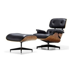Herman Miller - Herman Miller | Eames® Lounge Chair with Ottoman, Walnut - Quick Ship - Design by Charles & Ray Eames, 1956.