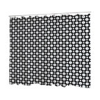Uneekee - Uneekee Black Honeycomb Shower Curtain - Your shower will start singing to you and thanking you for such a glorious burst of design as you start your day!  Full printing on the front and white on the back.  Buttonhole openings for shower rings.