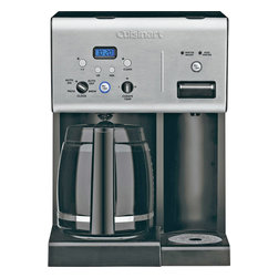 Cuisinart - Cuisinart Programmable Coffeemaker With Hot Water System - 12-cup carafe with ergonomic handle, dripless spout and knuckle guard