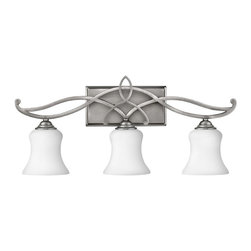 Hinkley Lighting - Hinkley Lighting 5003AN Brooke Antique Nickel 3 Light Vanity - Hinkley Lighting 5003AN Brooke Antique Nickel 3 Light Vanity