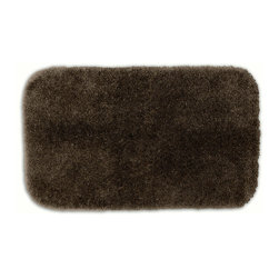 "Sands Rug - Posh Plush Cafe Noir Washable Bath Rug (2' x 3'4"") - Revel in spa-like luxury every time you step into your bath with the Posh Plush collection of bath rugs. The amazingly soft, yet durable, nylon plush is machine washable, and each floor piece has a non-skid latex backing for safety."