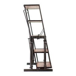 5 Tier Reclining Industrial Bookshelf - Rustic, industrial, and slightly whimsical, few shelf ...