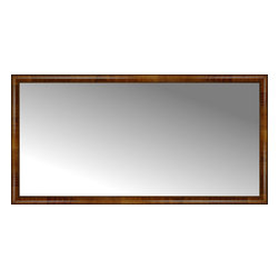 """Posters 2 Prints, LLC - 71"""" x 36"""" Belmont Light Brown Custom Framed Mirror - 71"""" x 36"""" Custom Framed Mirror made by Posters 2 Prints. Standard glass with unrivaled selection of crafted mirror frames.  Protected with category II safety backing to keep glass fragments together should the mirror be accidentally broken.  Safe arrival guaranteed.  Made in the United States of America"""