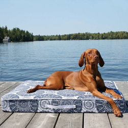 Outdoor Rectangular Pet Bed - Frontgate - Your dog's outdoor lounge mat can now look as pretty as your outdoor sofa cushions!
