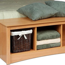 Prepac Sonoma Cubbie Bench in Maple - Prepac Sonoma Cubbie Bench in Maple is the perfect addition to any bedroom or hallway with a country or casual decor.