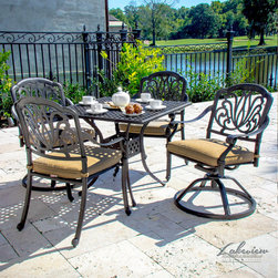 Rosedown Cast Aluminum Patio Furniture - The Rosedown Collection from Lakeview Outdoor Designs takes the look of cast aluminum to the next level with it's intricate and sophisticated floral design.