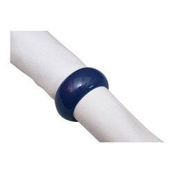 KAF Home - Fete Navy Napkin Ring, Set of 4 - This specialty napkin ring allows you to create your own custom aesthetic while pulling your whole place setting together.