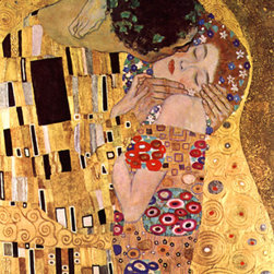 "WCC - The Kiss Gustav Klimt Printed on Highest Quality Artist's Canvas 24""x36'' - High quality 0.56 mm thick 400 gsm cotton canvas."