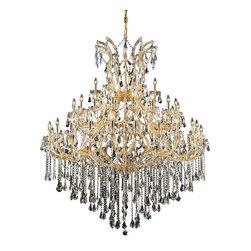Elegant Lighting - Elegant Lighting 2801G60G/RC Maria Theresa Collection Large Hanging Fixture - Elegant Lighting 2801G60G/RC Maria Theresa Collection Large Hanging Fixture