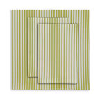 Oilo - Queen Striped Sheet Set, Spring Green - Bold stripes are a classic look that never go out of style. This 300 thread count sheet set would be the perfect complement to a patterned duvet. The fitted and flat sheet, along with the envelope closure pillowcase, are a must for your sophisticated bedroom.