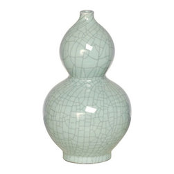Emissary - Gourd Vase in Celadon Ice - The reactive glaze on this beautiful vase creates unique and random patterns and it is the perfect accessory for any room!
