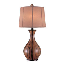 "Ambience - Ambience AM 10832 Traditional/Classic Table Lamp with Banana Bark finish - *Banana Bark finish1x 150W Medium Base Bulb (Bulb Not Included)Three-Way SwitchDimensions: 32""H x 16""Dia."