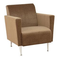 Adesso - Adesso WK4221-33 Memphis Velvet Club Chair-Khak - Adesso WK4221-33 Memphis Velvet Club Chair-Khak