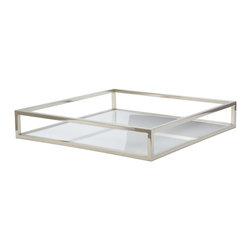 Lazy Susan - White Box Rod Square Tray - White Box Rod Square Tray