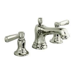 KOHLER - KOHLER K-10577-4-SN Bancroft Widespread Bathroom Sink Faucet - KOHLER K-10577-4-SN Bancroft Widespread Bathroom Sink Faucet with Metal Lever Handles in Vibrant Polished Nickel