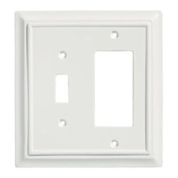 Liberty Hardware - Liberty Hardware 64546 Wood Architectural WP Collect 5.51 Inch Switch Plate - A simple change can make a huge impact on the look and feel of any room. Change out your old wall plates and give any room a brand new feel. Experience the look of a quality Liberty Hardware wall plate. Width - 5.51 Inch, Height - 5.2 Inch, Projection - 0.4 Inch, Finish - White, Weight - 0.26 Lbs.