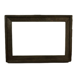 "11""x17"" Wood Frame - Beautiful natural dark patina with just a touch of lighter accents."