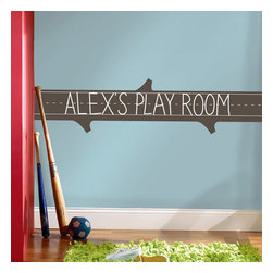 York Wallcoverings - Learning Log Chalkboard Wall Accent Self Stick Decal - Features: