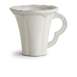 Arte Italica - Merletto Antique Mug - Coffee? Tea? Whatever you decide, you can't go wrong with this delicately patterned mug. It borrows is lacy look from a vintage design and is made by hand in Italy so each will be slightly different.