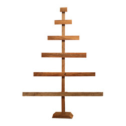 Barn Wood Christmas Tree, Large - This barn wood Christmas trees make for beautiful, rustic holiday decor. It works really well for displaying special Christmas ornaments that might get lost on a traditional tree.