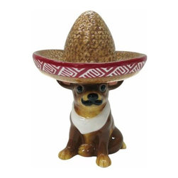 WL - 6.75 Inch Guillermo with Giant Sombrero Painted Ceramic Tea Light - This gorgeous 6.75 Inch Guillermo with Giant Sombrero Painted Ceramic Tea Light has the finest details and highest quality you will find anywhere! 6.75 Inch Guillermo with Giant Sombrero Painted Ceramic Tea Light is truly remarkable.