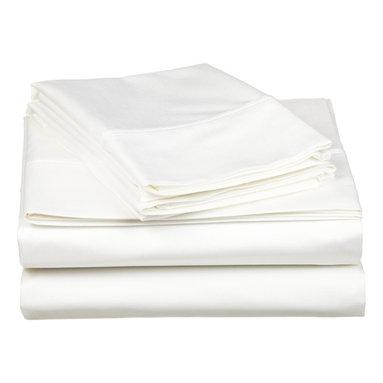 Egyptian Cotton White Solid Sheet Set - 530 Thread Count Egyptian Cotton Queen White Solid Sheet Set