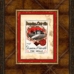 Melissa Van Hise - Melissa Van Hise Vintage Wine Labels VII Framed Leather Wall Art -