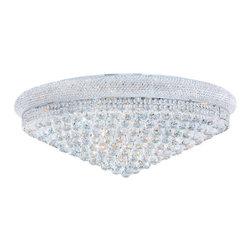 "Worldwide Lighting - Worldwide Lighting W33011C36 Empire 20 Light 36"" Flush Mount Ceiling Fixture in - Specifications:"