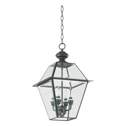 Quorum International - Quorum International Q728-4 4 Light Outdoor Pendant from the Duvall Collection - Quorum International 728-4Outdoor Pendant LightDetails: