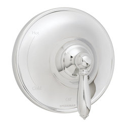 Speakman - Speakman Alexandria Collection Pressure Balance Valve Trim in Polished Chrome - Speakman's Alexandria Collection Pressure Balance Valve Trim blends seamlessly in traditional bathrooms or country bathrooms. Elegant, refined and ideal for master baths and small bathrooms alike, this valve trim combines conventional details with smooth shapes for a timeless design. The Alexandria Collection valve trim is perfect when paired with showerheads, faucets and other bathroom accessories of the same collection, and is designed to fit Speakman's Pressure Balance Valves. Available in polished chrome and brushed nickel