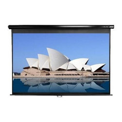 """Elitescreens - 136"""" (4:3) Manual Pull Down Projection Screen Black - Elite Screens offers a 136"""" Manual pull down screen."""