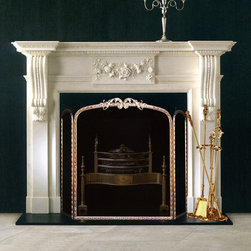 Marble Fireplace Mantels - Carlisle - Elegant and regal, the Carlisle marble fireplace mantel is a sight to behold. With all the classic stylings of decades past, it's a treasure for your fireplace.