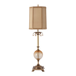 Harlequin Light - Harlequin Amberesque Lamp - Refined, regal and radiant.