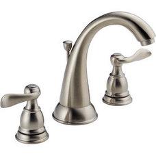 Bathroom Sink Faucets Delta Windemere Brushed Nickel 2-Handle WaterSense Bathroom Sink Faucet (Dr