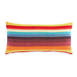 Pine Cone Hill - montego multi pillow (15x35) - Our rainbow-hued decorative pillow, crafted of cozy cotton chenille, is the perfect perk-up for any bed.��This item comes in��multicolor.��This item size is��35w 15h.