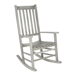 Safavieh - Safavieh Shasta Grey Wash Acacia Wood Rocking Chair - A country porch classic,the charming Shasta rocking chair is a perennial favorite in homes across America.