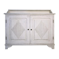 NOIR - NOIR Furniture - GUSTAVIE SIDEBOARD WHITE WEATHERED - GCON173WW - Features: