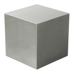 Gus Modern - Gus Modern Stainless Cube - Sometimes, the brilliance of furniture is all in its simplicity. Like this cube. Rest it any way you want, use it as a table, nightstand, foot rest, potted plant stand — anything you can think of. It's versatile enough to fit into any spot you choose.