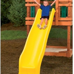 PlayStar Playsets Giant Scoop Wave Slide - The PlayStar Giant Scoop Wave Slide is certified wheee-worthy. Long, deep and wavy, it's made of strong polyethylene, yellow-tinted for sunny smiles, and it's deeper, stronger and wider than conventional slides. Tough plastic won't rust, crack, break or fade. Side rails keep kids on track. Designed for 60-inch PlayStar play decks. It's all downhill from there.About PlayStarPlayStar was started in the Heartland of America, in the garage of an entrepreneur with this dream: to build a foundation of people who were hardworking, friendly, professional and self-motivated to do the right thing, to offer the ultimate customer service and provide the highest value, best quality and most innovative products. All PlayStar Playsets are designed following company safety standards that exceed government guidelines, to enhance your child's physical development and social skills.