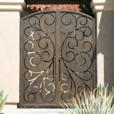 Mediterranean Fencing by Colletti Design Iron Doors