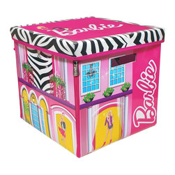 Neat-Oh! Barbie ZipBin Dream House Toy Box & Playmat - A storage unit and play set in one? What a cool idea! This Barbie ZipBin Dream House opens up to reveal a two-story play set, and keeps Barbie and her friends neat and tidy when not in use.