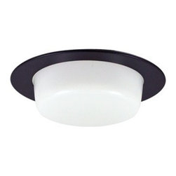 "Nora Lighting - Nora NL-424 4"" Drop Opal Lens with Reflector, Nl-424b - 4"" Drop Opal Lens with Reflector"