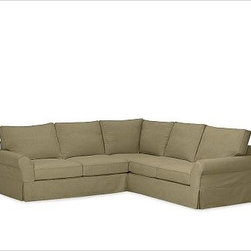 """PB Comfort Roll-Arm 3-Piece L Shaped Sectional Slipcovers, everydaysuede(TM) Jad - Designed exclusively for our PB Comfort Sectional, these soft, inviting slipcovers retain their smooth fit and remove easily for cleaning. Left 3-Piece Sectional with Box Cushions shown. Select """"Living Room"""" in our {{link path='http://potterybarn.icovia.com/icovia.aspx' class='popup' width='900' height='700'}}Room Planner{{/link}} to select a configuration that's ideal for your space. This item can also be customized with your choice of over {{link path='pages/popups/fab_leather_popup.html' class='popup' width='720' height='800'}}80 custom fabrics and colors{{/link}}. For details and pricing on custom fabrics, please call us at 1.800.840.3658 or click Live Help. All slipcover fabrics are hand selected for softness, quality and durability. Left-arm configuration is shown; also available in right-arm configuration. {{link path='pages/popups/sectionalsheet.html' class='popup' width='720' height='800'}}Left-arm or right-arm configuration{{/link}} is determined by the location of the arm on the love seat as you face the piece. This is a special-order item and ships directly from the manufacturer. To see fabrics available for Quick Ship and to view our order and return policy, click on the Shipping Info tab above. Watch a video about our exclusive {{link path='/stylehouse/videos/videos/pbq_v36_rel.html?cm_sp=Video_PIP-_-PBQUALITY-_-SUTTER_STREET' class='popup' width='950' height='300'}}North Carolina Furniture Workshop{{/link}}."""