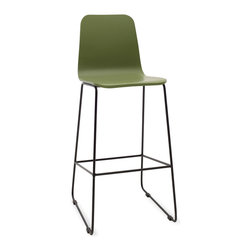 Bryght - Ava Green Metal Bar Stool - A quirky addition to the modern home, the Ava bar stools make meals fun.