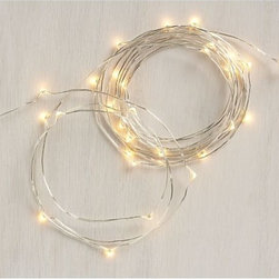 Twinkle String Lights - I like that these twinkle lights have a translucent cord. I think they would look really great wrapped around a mantel.