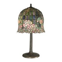 EuroLux Home - Floral Dale Tiffany Table Lamp Hand Rolled - Product Details