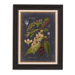 Bassett Mirror - Bassett Mirror Framed Under Glass Art, Midnight Botanical II - Midnight Botanical II