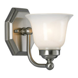 Norwell Lighting - Norwell Lighting 8318 1 Light Wall Sconce from the Trevi Collection - Contemporary / Modern 1 Light Wall Sconce from the Trevi CollectionThe Trevi series of sconces present a detailed octagonal back plate that mirrors the gracefully curved arm and opal glass. The sconces are offered in two glass shapes; a unique hexagonal shape or a classically curved double opal.Features: