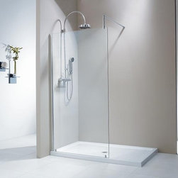 Fleurco Evolution 5' and 6' Walk-In Shower System No Shield Fixed Panel V56310 -